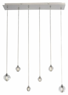 ET2 E24505-91PC Harmony Contemporary Polished Chrome Finish 27.25  Wide LED Multi Ceiling Pendant Light