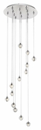 ET2 E24508-91PC Harmony Modern Polished Chrome Finish 134  Tall LED Multi Hanging Pendant Lighting