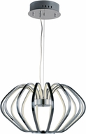 ET2 E24514-PC Argent Modern Polished Chrome LED Lighting Pendant
