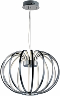 ET2 E24522-PC Argent Modern Polished Chrome LED Hanging Lamp