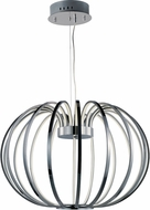 ET2 E24526-PC Argent Modern Polished Chrome LED Pendant Light Fixture
