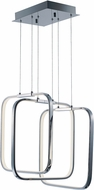 ET2 E24553-PC Squared Contemporary Polished Chrome LED Multi Hanging Pendant Lighting