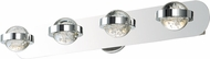 ET2 E30614-91PC Cosmo Contemporary Polished Chrome LED 4-Light Bathroom Lighting Fixture