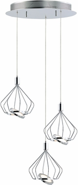 ET2 E30623-PC Tilt Contemporary Polished Chrome LED Multi Ceiling Pendant Light