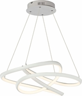 ET2 E30644-MW Twisted Contemporary Matte White LED 24.5 Hanging Lamp