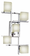 ET2 E31201-75PC Nova LED Modern Polished Chrome Finish 22.5  Tall Wall Lighting Sconce