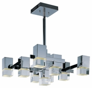 ET2 E31206-75PC Nova LED Contemporary Polished Chrome Finish 26  Wide Hanging Light