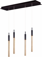 ET2 E32774-118BRZ Scepter Contemporary Black Chrome LED Multi Drop Ceiling Lighting