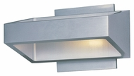ET2 E41302-SA Contemporary Satin Aluminum 4.5  Tall Wall Light Sconce