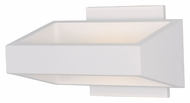 ET2 E41302-WT Modern White 7.25  Wide Wall Lighting Fixture
