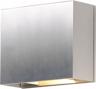 ET2 E41328-SA Alumilux Modern Satin Aluminum LED Outdoor Wall Lighting Fixture