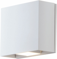 ET2 E41328-WT Alumilux Contemporary White LED Exterior Wall Light Sconce