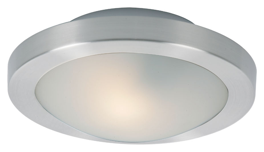 Modern Indoor Ceiling Lights : Et e sn modern satin nickel quot wide indoor ceiling