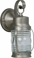 Craftmade Z112-28 Nautical Brushed Nickel Outdoor Small Wall Sconce