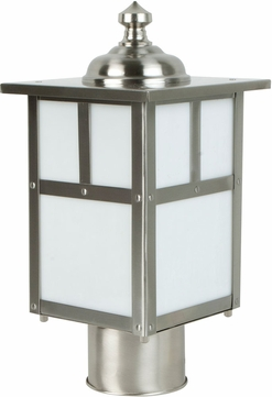 Craftmade Z1845-56 Mission Craftsman Stainless Steel Exterior Post Light Fixture