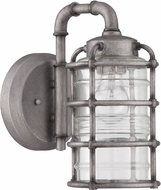 Craftmade Z2114-16 Hadley Retro Aged Galvanized Outdoor Small Lighting Wall Sconce