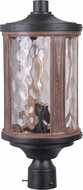 Craftmade Z2725-14 Madera Textured Black / Whiskey Barrel Exterior Post Lamp