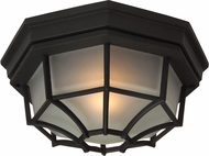 Craftmade Z389-05 Bulkhead Matte Black Exterior Large Flush Mount Ceiling Light Fixture / Wall Lamp