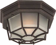 Craftmade Z390-07 Bulkhead Rust Outdoor Small Overhead Lighting Fixture / Light Sconce