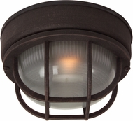 Craftmade Z394-07 Bulkhead Rust Exterior Small Ceiling Light Fixture / Wall Sconce Lighting