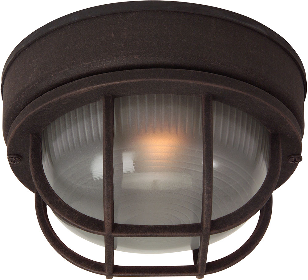 Exteriors z394 07 bulkhead rust exterior small ceiling light fixture wall sconce lighting for Exterior ceiling light fixture