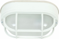 Craftmade Z396-04 Bulkhead Matte White Exterior Small Flush Mount Light Fixture / Wall Light Sconce