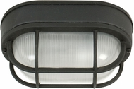 Craftmade Z396-05 Bulkhead Matte Black Outdoor Small Flush Mount Lighting Fixture / Wall Lighting Fixture