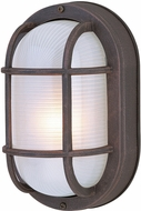 Craftmade Z396-07 Bulkhead Rust Exterior Small Flush Ceiling Light Fixture / Wall Light Sconce