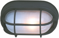 Craftmade Z397-05 Bulkhead Matte Black Outdoor Large Overhead Light Fixture / Wall Lamp