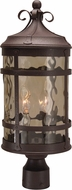 Craftmade Z5015-91 Espana Rustic Iron Outdoor Post Lighting Fixture
