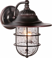 Craftmade Z5804-88 Fairmont Oiled Bronze Gilded Exterior Small Wall Sconce Light