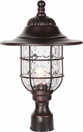 Craftmade Z5825-88 Fairmont Oiled Bronze Gilded Outdoor Lamp Post Light
