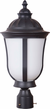 Craftmade Z6165-92-NRG Frances III Oiled Bronze Fluorescent Outdoor Post Lighting Fixture