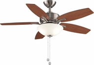 Fanimation Fans FP6245BN Aire Deluxe Brushed Nickel Fluorescent 44  Home Ceiling Fan w/ Reversible Blades