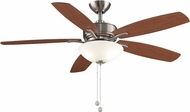 Fanimation Fans FP6285BN Aire Deluxe Brushed Nickel Fluorescent 52  Home Ceiling Fan Fixture w/ Reversible Blades