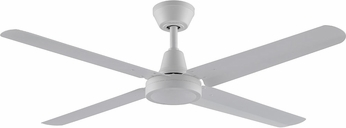 Fanimation Fans FP6717MW Ascension Modern Matte White Interior / Exterior 54  Home Ceiling Fan