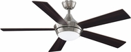 Fanimation Fans FP8062BN Celano V2 Brushed Nickel LED 52  Ceiling Fan Fixture w/ Reversible Blades
