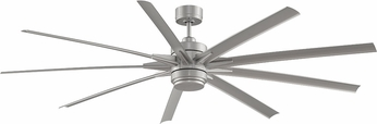 Fanimation Fans FPD8149BNWBN Odyn Brushed Nickel LED Exterior 84  Home Ceiling Fan Fixture