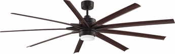 Fanimation Fans FPD8149DZW Odyn Dark Bronze LED Outdoor 84  Ceiling Fan
