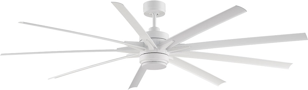 Fanimation Fans FPD8149MWW Odyn Matte White LED Outdoor 84u0026nbsp; Ceiling Fan  Fixture. Loading Zoom