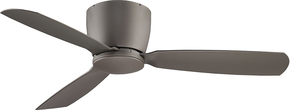 fanimation fans fps7955gr embrace matte greige halogen 52u0026nbsp ceiling fan fixture loading zoom - Low Profile Ceiling Fan