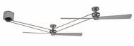 Fanimation Fans HA7966BN-HA7966BN-MA7966BN Kellen Modern Brushed Nickel Ceiling Fan Assembly