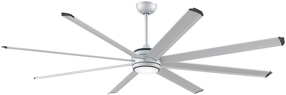 fanimation fans mad7993slw stellar modern silver with black accents led interior exterior ceiling fan motor loading zoom