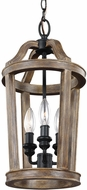 Feiss F3029-3WOW Lorenz Weathered Oak Wood Foyer Lighting