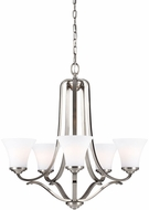 Feiss F3065-5SN Hamlet Satin Nickel Chandelier Light