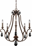Feiss F3070-5WI DeWitt Weathered Iron Lighting Chandelier