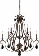 Feiss F3071-9WI DeWitt Weathered Iron Chandelier Light