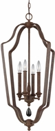 Feiss F3072-4WI DeWitt Weathered Iron Foyer Lighting