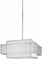 Feiss F3103-3SRS Kenney Sunrise Silver Hanging Lamp