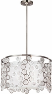Feiss F3113-3PN Lexi Contemporary Polished Nickel Drum Pendant Lighting